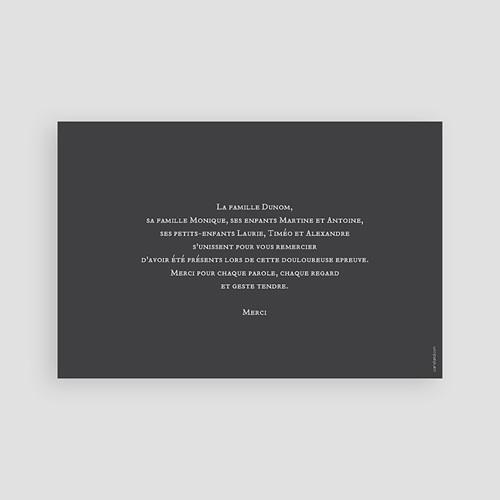 Remerciements Décès Universel - Feuilles endeuillées 43521 preview