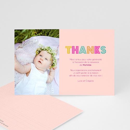 Remerciements Naissance Fille - Hello en multicolor 43556 thumb