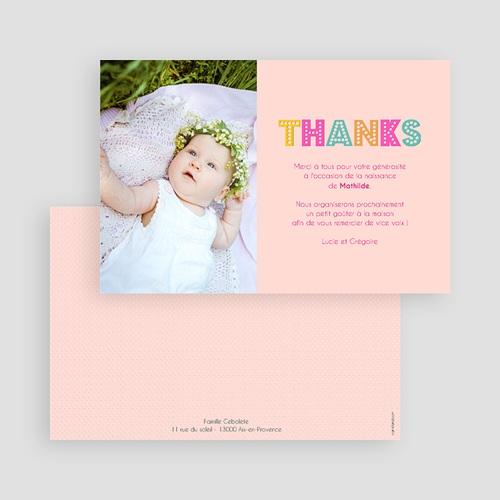 Remerciements Naissance Fille - Hello en multicolor 43558 thumb