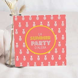 Carte invitation anniversaire adulte Summerparty Ananas