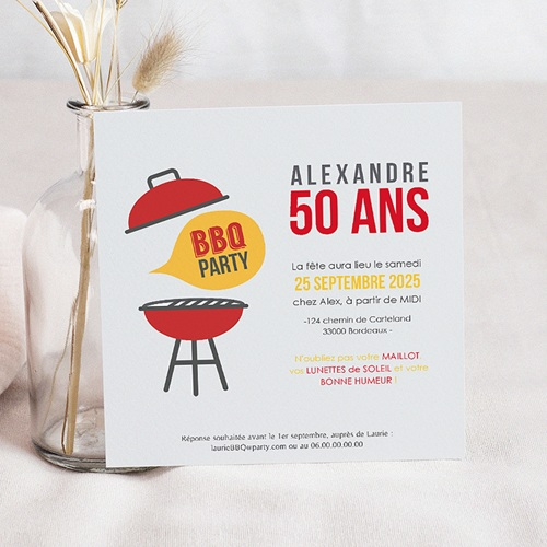 Invitation Anniversaire Adulte - Barbecue Party 43592