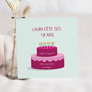 Carte Invitation Anniversaire 18 Ans A Creer Carteland