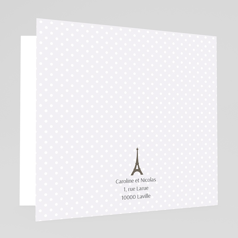 Faire-Part Mariage Photo Paris Tour Eiffel gratuit