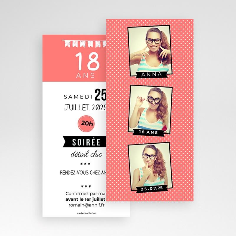 Carte Invitation Anniversaire Adulte Photomatik pas cher