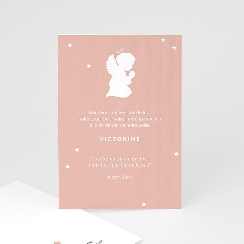 Carte Remerciement Décès Universel Petit ange rose