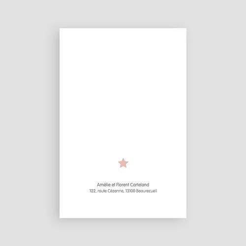 Carte Remerciement Décès Universel Petit ange rose pas cher