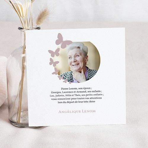 Remerciements Décès Universel - Papillons de lumière 43746