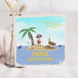 Invitations Anniversaire enfant Pirate
