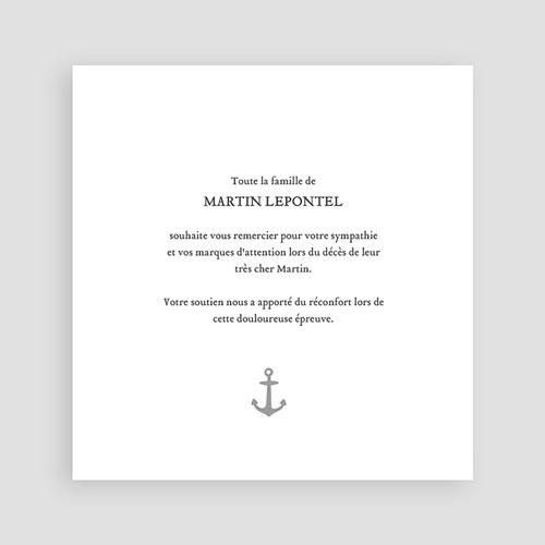 Carte Remerciement Décès Universel Air Marin pas cher