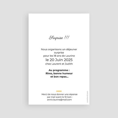 Invitation Anniversaire Adulte - Ballons à gogo 43812 preview