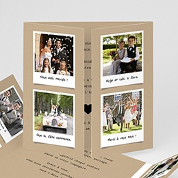 Carte remerciement mariage original Notre histoire