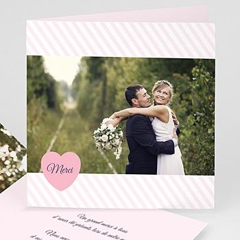 Créer soi même remerciements mariage personnalisés rose bonbon