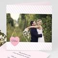 Carte remerciement mariage - Rose bonbon - 4305