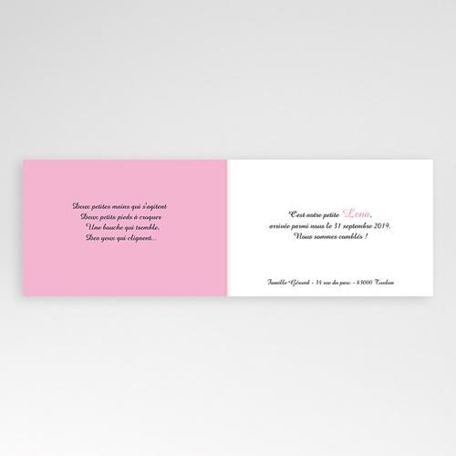 Faire-Part Naissance Fille - Naissance du Bonheur - rose 4391 preview