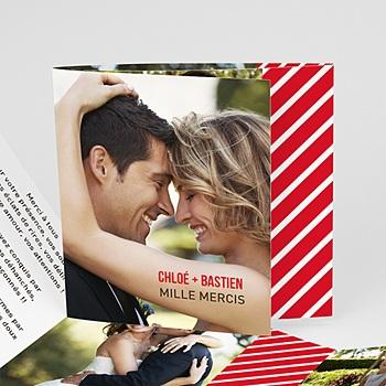 Création remerciements mariage personnalisés monsieur et madame