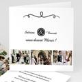 Carte remerciement mariage - Elégant - 4297