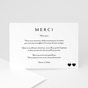 Remerciements Mariage Personnalisés - Classique noir - 0