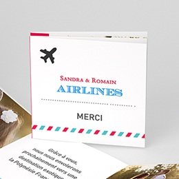Remerciements Mariage Airlines