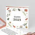 Carte de Voeux Happy New Year végétal