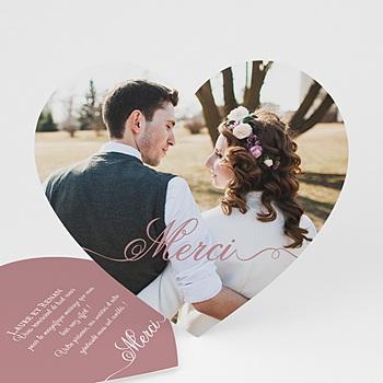Créer soi même remerciements mariage personnalisés de tout notre coeur