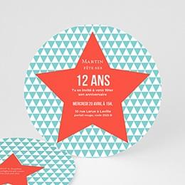 Carte invitation anniversaire garçon - 12 ans 44234