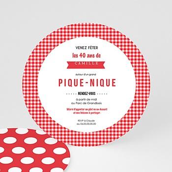 Carte d'invitation anniversaire adulte Pique-Nique