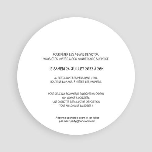 Invitation Anniversaire Adulte - Vintage vert 44251 thumb