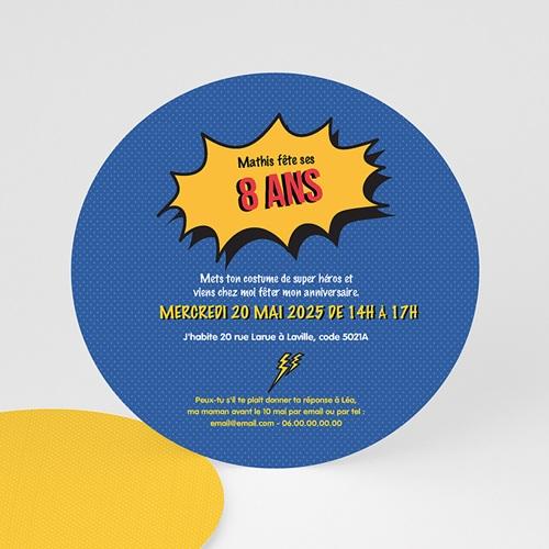 Invitations Anniversaire Garçon - Super Anni 44254