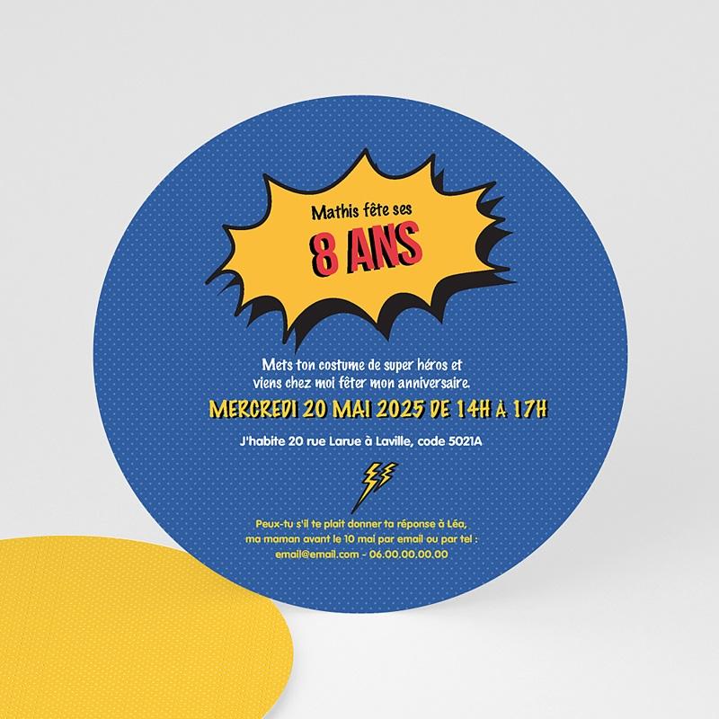 Invitation Anniversaire Garçon - Super Héros 44254 thumb