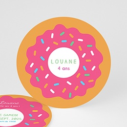 Carte invitation anniversaire fille Donut party