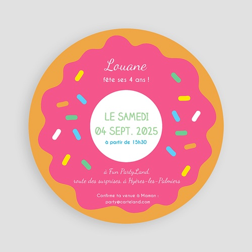 Invitations Anniversaire Garçon - Donut party 44259 preview