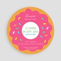 Carte invitation anniversaire fille Donut party pas cher