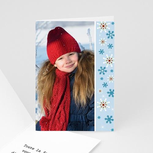 Carte de Voeux 2018 - Flocons bleus 4426