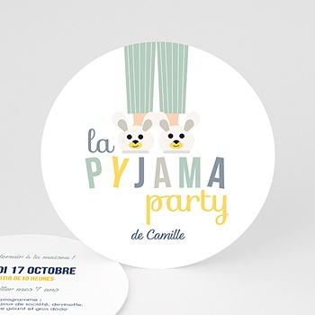 Invitations Anniversaire Garçon - Pyjama Party - 0