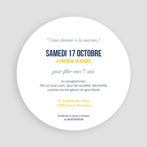 Invitations Anniversaire Garçon - Pyjama Party 44263 preview