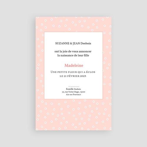 Faire-Part Naissance Fille - Chic et fleuri 44304 preview