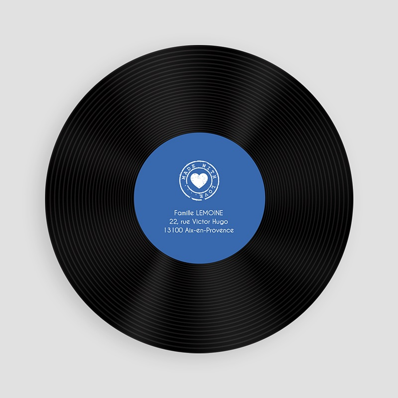 Faire-Part Naissance Rond Single Baby Blue pas cher