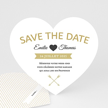 Save-The-Date - Marque Coeur - 0