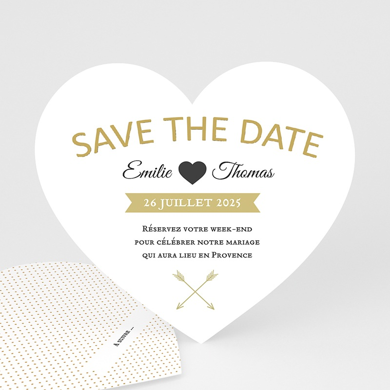 Save The Date Mariage Marque Coeur