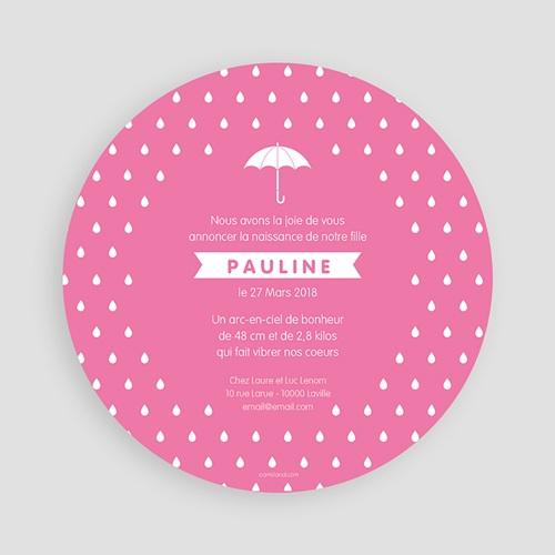 Faire-Part Naissance Fille - Pluie de bonheur 44369 preview