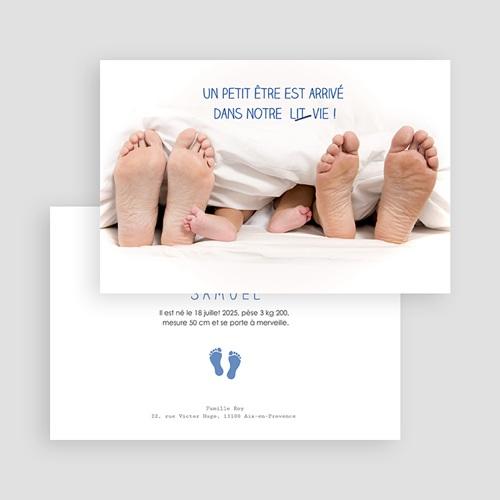 Faire-Part naissance humoristique - Pieds et empreintes 44375 preview