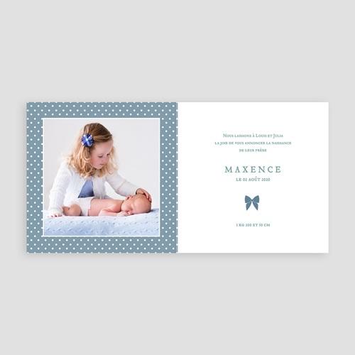 Faire-Part Naissance Garçon - Noeud Chic Bleu 44386 preview