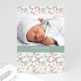 Faire-Part Naissance Fille - Liberty Baby 44407