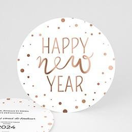 Voeux Nouvel An Cuivré