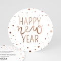 Carte de Voeux 2020 - ronde happy New Year - 4663