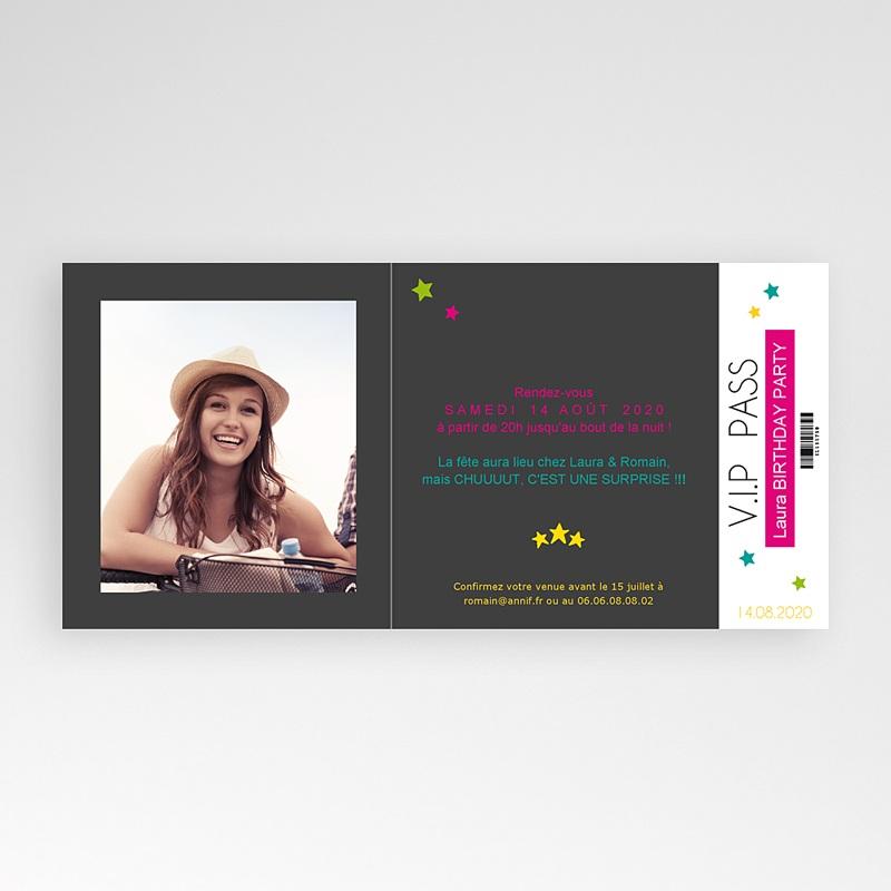 Carte Invitation Anniversaire Adulte Karaoké Rose pas cher