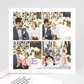 Carte remerciement mariage - Coeur Rose - 4674