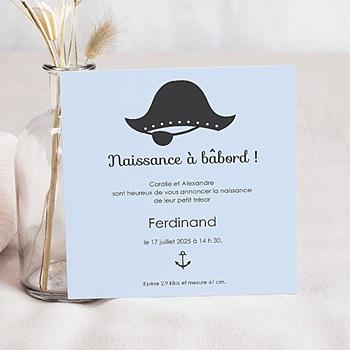 Faire-Part Naissance Garçon - Petit Pirate - 0