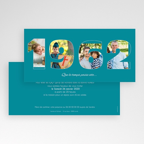 Invitation Anniversaire Adulte - Des chiffres fétiches 44659 thumb