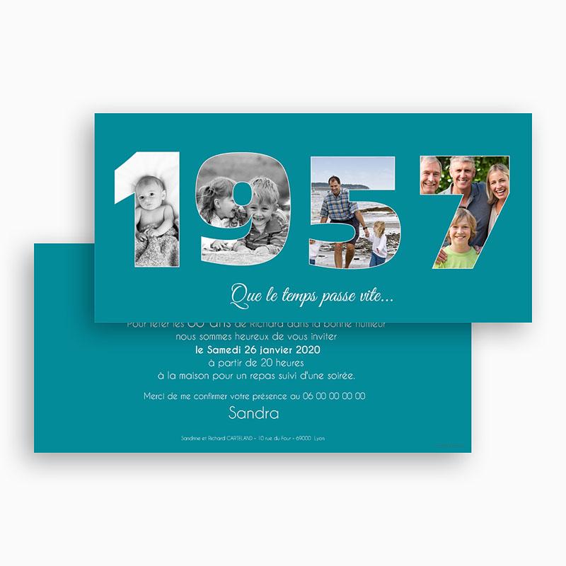 Invitation Anniversaire Adulte - Des chiffres fétiches 44660 thumb